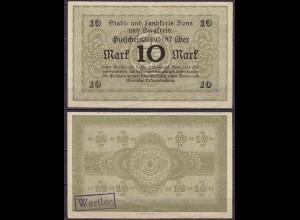 Rheinland - Bonn u. Siegkreis 10 Mark o.D. Notgeld/Gutschein (cb240