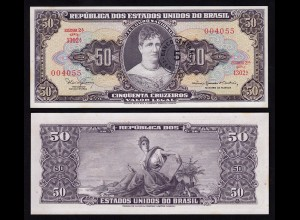 Brasilien - Brazil 5 Centavo auf 50 Cr. Banknote 1966-67 UNC Pick 184a (16397