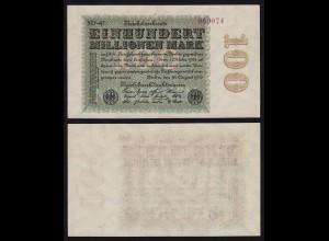 Reichsbanknote 100-Millionen Mark 1923 Ros.106 L FZ=SD XF/aUNC (16394