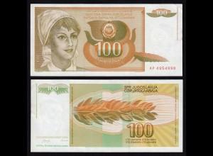 Jugoslawien - Yugoslavia 100 Dinara 1990 UNC Pick 105 (16388