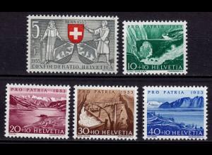 Schweiz - Switzerland Mi. 580-584 ** Pro Patria 1953 (11225