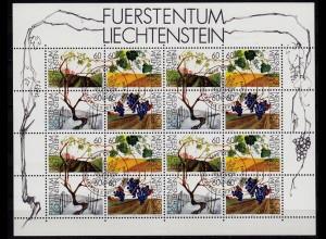 Liechtenstein vier Jahreszeiten Klbg 1089-92 gestempelt (c070
