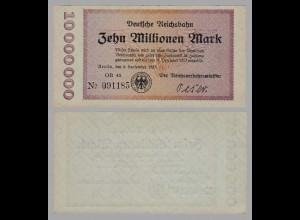 Reichsbahn Berlin 10 Millionen Mark 1923 aUNC (16387