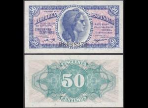 SPANIEN - SPAIN 50 Centimos Banknote 1937 UNC Pick 93 (12806
