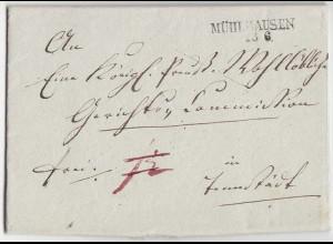 Mühlhausen - Tennstedt Vorphila Gerichtsbrief 1841 mit Inhalt Preussen (d652