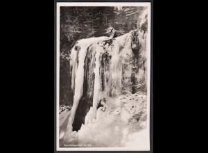 AK Baiersbronn - Sankenbach-Wasserfall im Eis 1953 (16490