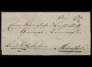 Hamm Vorphila nach Münster 1835 mit Inhalt (b765