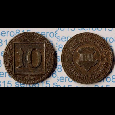 Kriegsgels/Notgeld Münster 10 Pfennig 1918 Eisen (n184