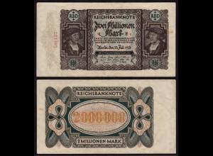 Reichsbanknote - 2 Millionen Mark 1923 Ros. 89a VF (16661