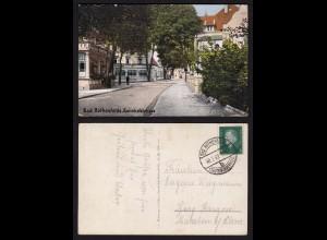 AK Bad Rothenfelde Bahnhofstasse mit Cafe (16676