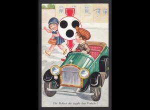 AK Polizei Kinder Auto Verkehr von Drensteinfurt nach Roxel 1932 (16696
