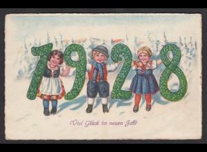 AK Neujahr Neues Jahr Kinder 1928 (16723