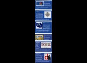 Verabschiedung der DM auf Briefmarken mit Originalen + Beschreibung (b753