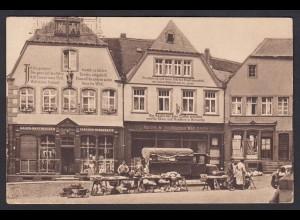 AK St. Wendel Häuser mit Bekenntnis Sprüchen am Markt (16755