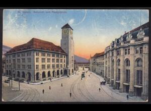 AK Schweiz St. Gallen Bahnhof und Postgebäude (16767
