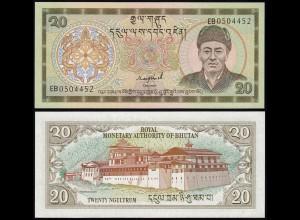 Bhutan - 20 Ngultrum Banknote UNC Pick 16b (14447