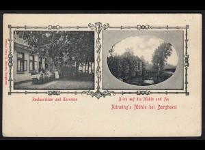 AK Borghorst (Steinfurt) Restaurant + Nünnings Mühle Jugendstil 1901 (16821
