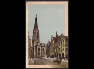 AK Münster Westfalen Prinzipalmarkt 1910 m.Pferde-Kutsche (16863