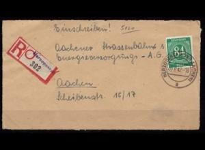 Herzogenrath prov.R-Zettel 1947 Vorderseite (b184