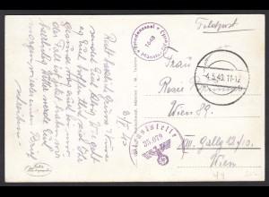 Feldpost WW2 4.5.1940 Dieststelle 35.079 Friedenssaal 1648 Münster (16868