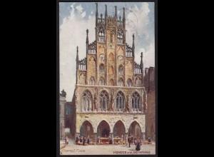 AK Münster Westfalen Kunst Tuck´s Postkarte signiert Charles F. Flower 1913