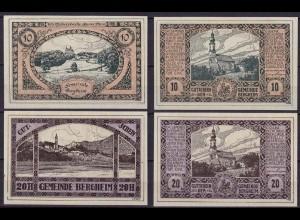 Österreich - Austria Bergheim 10 + 20 Heller Notgeld (12013