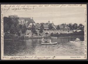 AK Dortmund Steinerne Brücke 1915 nach Herne (16917