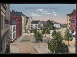 AK Dortmund Hoher Wall und Körnerplatz 1924 (16949