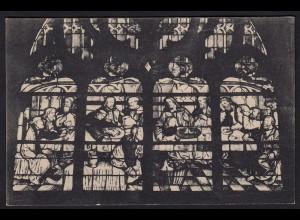 AK Soest Wiesenkirche Glasfenster um 1500 Abendmahl (16971