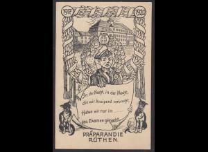AK Rüthen in Westfalen Kreis Soest 1917 Studentika 1917/20 Präparandie (16981