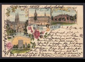 AK Litho Gruss aus Soest Westfalen 1901 (16997