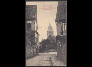 AK Soest Westfalen 1916 Bachsteingasse mit Paulikirche Feldpost (17006