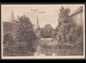 AK Soest Westfalen 1916 Am großen Teich Feldpost (17008