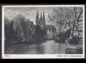AK Soest in Westfalen Grosser Teich und Wiesen-Kirche (17014