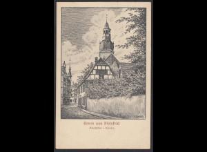 AK Bielefeld Altstädter Kirche Federzeichnung von E.Knorr 1929 (17025