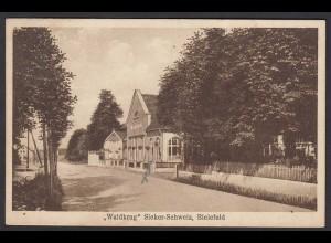 AK Bielefeld Restaurant Waldkrug Wedding Sieker Sweiz 1929 (17027