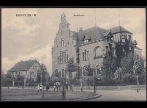 AK Ennigloh, Bünde Kreis Herford Westfalen Amtshaus 1918 (17036