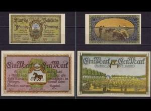Schleswig Holstein - Tondern Tønder Dänemark 50 Pfennig + 1 Mark Notgeld (ca531