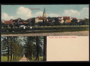 AK Bad Levern bei Stemwede Totalansicht und Waldweg (17056