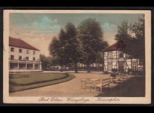 AK Bad Eilsen Wesergebirge Konzertplatz 1921 nach Bremen (17058