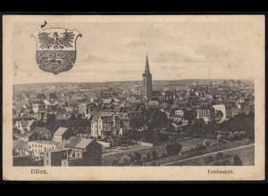 AK Düren 1914 Totalansicht Feldpost nach Münster (17075