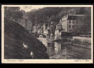 AK Monschau Eifel Idyll an der Rür 1938 (17078