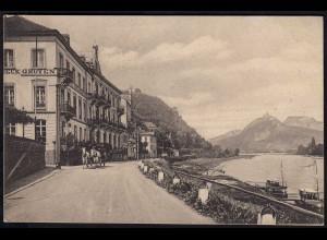 AK Rolandseck Remagen Hotel GROYEN Auto Garage Feldpost 1917 (17135