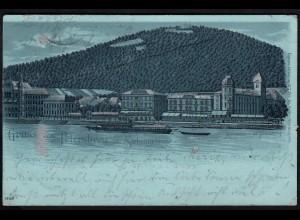 AK Nacht-Silber-Litho Gruss vom Petersberg Hotel Ww.Pet.Jos.Nelles 1899 (17137