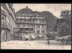 AK Bad Ems Kurhaus und Strassenansicht 1902 nach Münster (17141