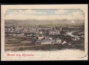 AK Litho Gruss aus Ahrweiler 1901 nach Köln (17161