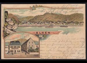 AK Litho Alken Mosel 1898 Gasthaus zum Ochsen Posthulfstelle (17166