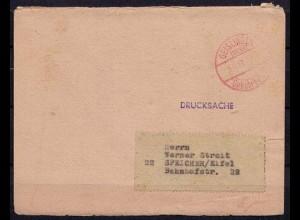 Geislingen Gebühr bezahlt rot nach Speicher 1947 German geschäftlich (b334