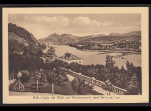 AK Rolandseck mit Blick auf Nonnenwert und Siebengebirge (17181