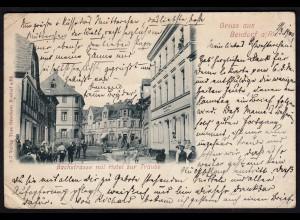 AK Bendorf Bachstrasse mit Hotel Traube 1900 (17191